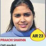 Praachi Sharma341 All India 23th Rank