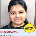Shagun Goyal340 All India 24th Rank