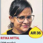 Ritika Mital328 All India 36th Rank