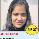 Arushi Jindal327 All India 37th Rank