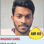 Raghav Garg324 All India 40th Rank